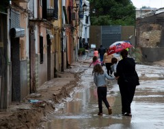 Karrewiet: Noodweer in Spanje