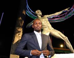 Karrewiet: Beeldje voor Bolt
