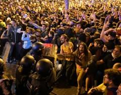 Karrewiet: Al dagen protesten in Catalonië