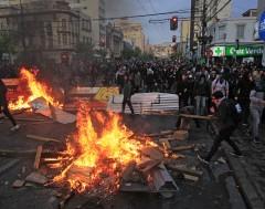 Karrewiet: Hevige protesten in Chili