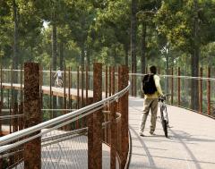 Karrewiet: Cirkelvormige fietsbrug in Limburg