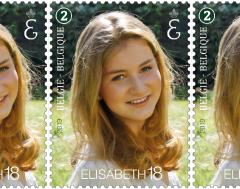 Karrewiet: Zo ziet de postzegel van kroonprinses Elisabeth eruit