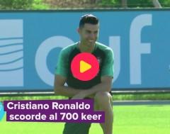 Karrewiet: Ronaldo scoort 700ste goal!
