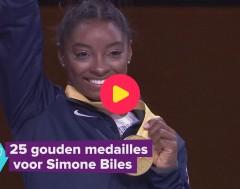 Karrewiet: Simone Biles heeft 25 gouden medailles gewonnen!