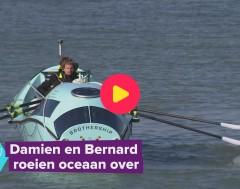 Karrewiet: Belgische broers roeien de Atlantische Oceaan over