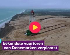 Karrewiet: Denen zetten vuurtoren 70 meter verder