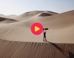 Karrewiet: Snowboarden op zand