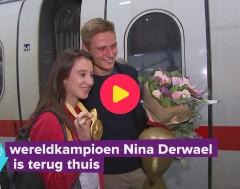 Karrewiet: Nina Derwael is terug thuis na het WK-turnen