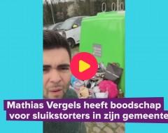 Karrewiet: Mathias Vergels is zwerfvuil kotsbeu