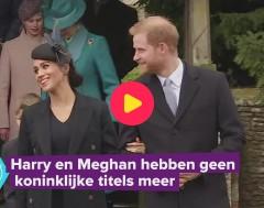 Karrewiet: Harry en Meghan zijn koninklijke titel kwijt