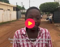 Goed gezien!: Daniël uit Togo loopt nu twee keer zo snel