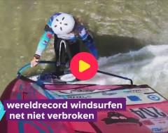 Karrewiet: Vincent breekt bijna het wereldrecord windsurfen