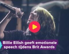 Karrewiet: Billie Eilish emotioneel op Brit Awards