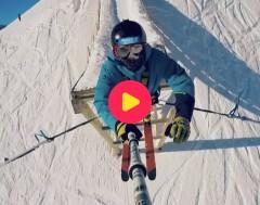 Karrewiet: Bungeejumpen met ski's