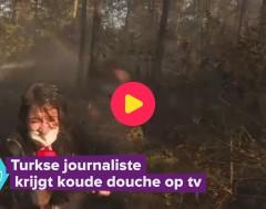 Karrewiet: journaliste krijgt koude douche op tv
