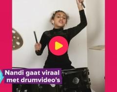 Karrewiet: Nandi verovert de wereld met haar drumskills