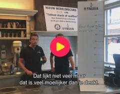 Karrewiet: Wereldrecord wafels stapelen verbroken