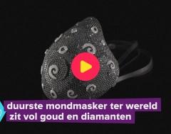 Karrewiet: Duurste mondmasker ter wereld zit vol goud en diamanten