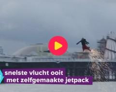 Karrewiet: Nieuw wereldrecord met jetpack