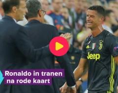 Karrewiet: Ronaldo weent bij rode kaart