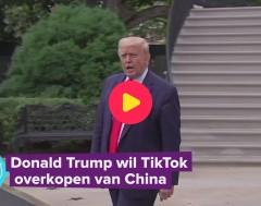 Karrewiet: Donald Trump wil TikTok overkopen van China