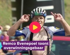 Karrewiet: Remco Evenepoel heeft eigen overwinningsgebaar