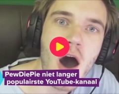 Karrewiet: PewDiePie niet meer de populairste YouTuber