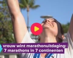 Karrewiet: Vrouw wint marathonuitdaging: 7 marathons op 7 continenten