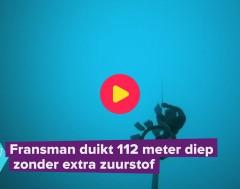 Karrewiet: Fransman duikt 112m zonder extra zuurstof: een wereldrecord!