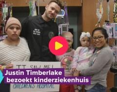 Karrewiet: Justin Timberlake op bezoek in ziekenhuis