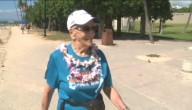 96-jarige loopt marathon