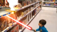 Vechten met een laserzwaard