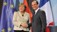 Hollande en Merkel
