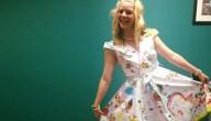 jurk met tekeningen