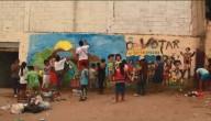 Muurschildering Peru