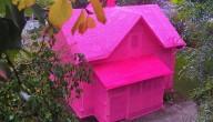 Huis onder de roze wol