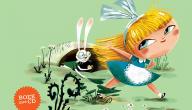 Wit konijn in Wonderland