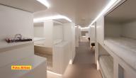 Slaapkamer in een vliegtuig
