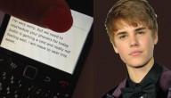 Bieber is ziek