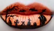 lippen voor Halloween