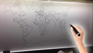 Wereldkaart tekenen