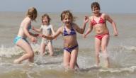 kinderen in zee