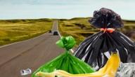 Afval op de weg