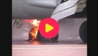 Brand bij landing