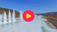 opgeblazen rivier