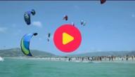Kitesurfers in Spanje