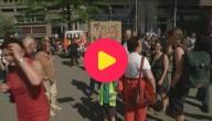 Protest tegen bezoek Trump