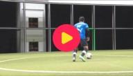 voetballen met een machine