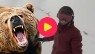 beer achtervolgt vrouw