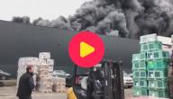 wafelfabriek in brand
